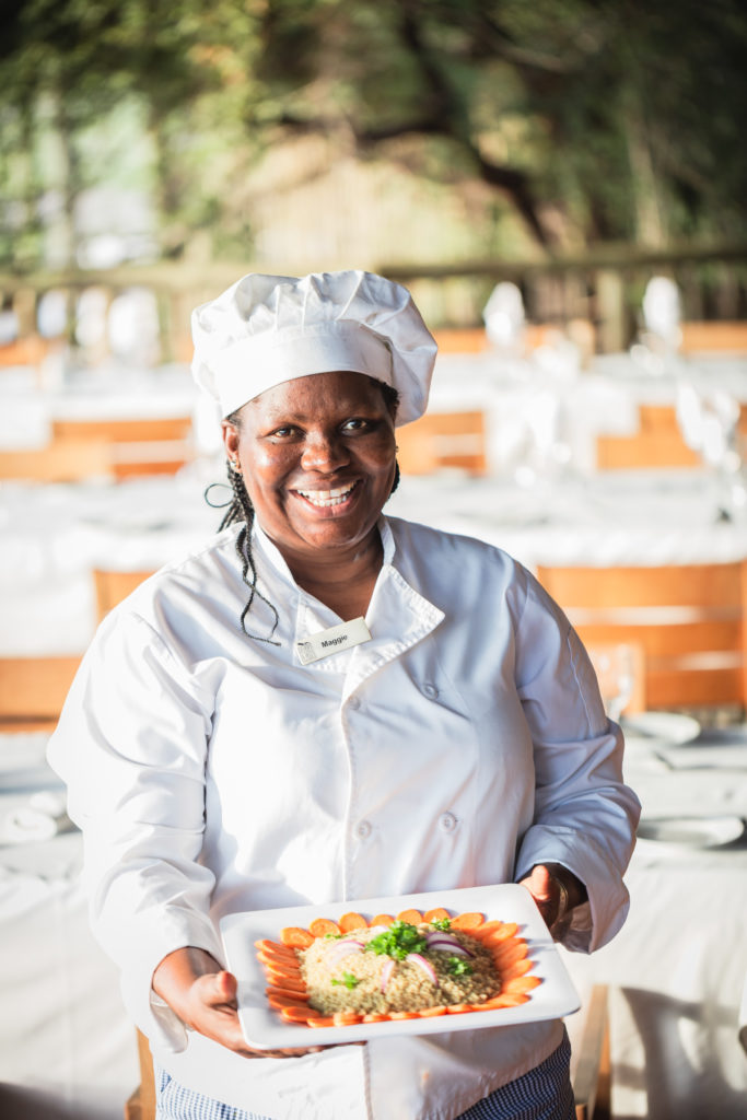 Chef Maggie at Savute Safari Lodge