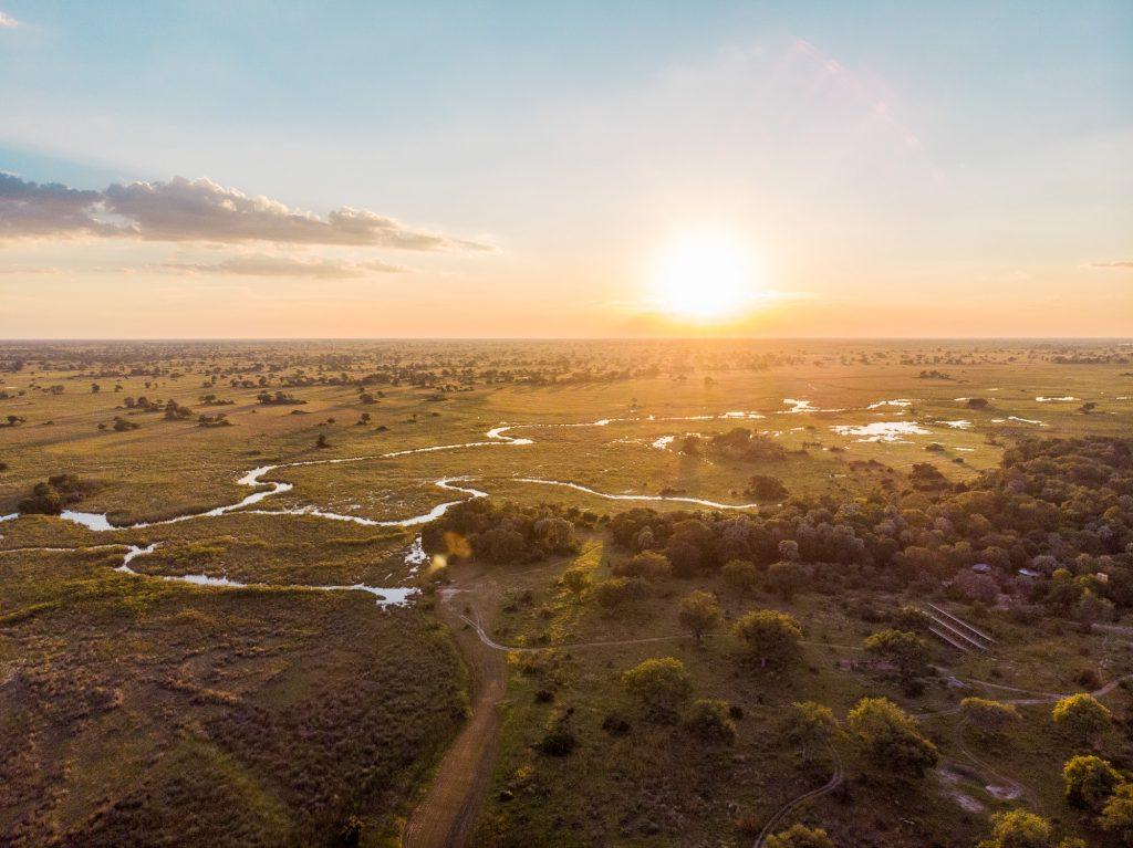 The beautiful Okavango Delta with Camp Okavango
