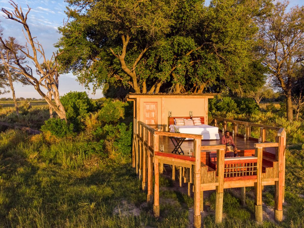 Soaking up the scenery from the Camp Okavango Sleep-Out Deck