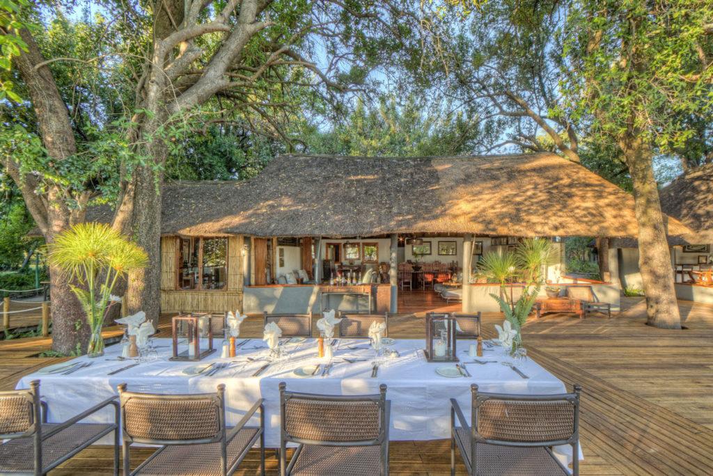 The beautiful Xugana Island Lodge in heart of the Okavango Delta