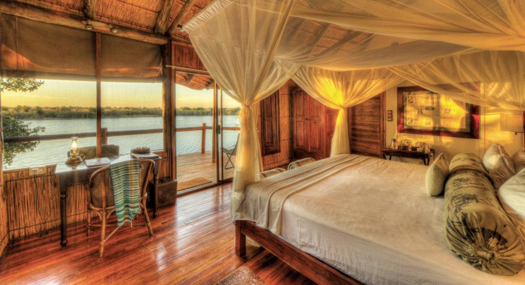 Guest rooms at Xugana Island Lodge